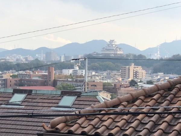 ベランダからの姫路城