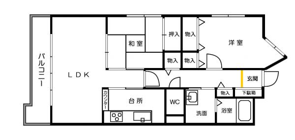 ライオンズマンション姫路平野402
